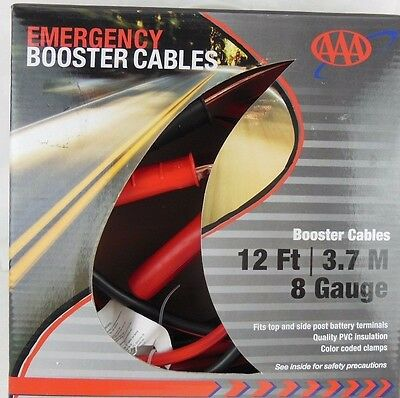 Emergency Booster Cables, 12 ft, 8 Gauge, 4324AAA