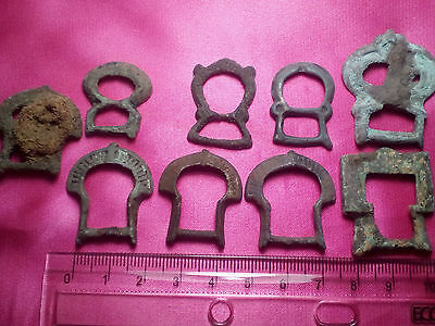 Ancient Viking Bronze Belts Buckles.
