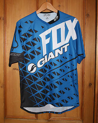 Fox GIANT Cycling T Shirt Blue Size Small Brand New Unworn Immaculate