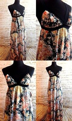 Vintage Long Floral Lingerie Night Dress NWT Size Small Medium Cahill Nighty