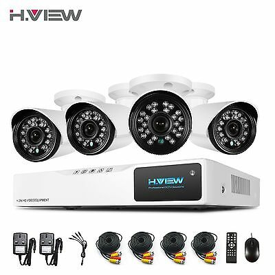 H.View HomeSecuritySystem 720P AHD CCTV DVR Kit OutdoorSecurityCameraSystem