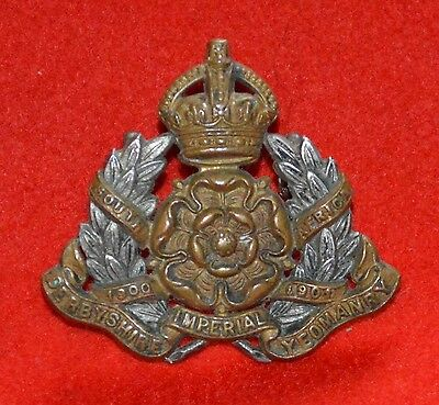 British Army. Derbyshire Imperial Yeomanry Genuine Officer's Collar Badge