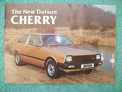 Datsun Cherry 1981 brochure - Hatchback, Saloon and Coupe models.