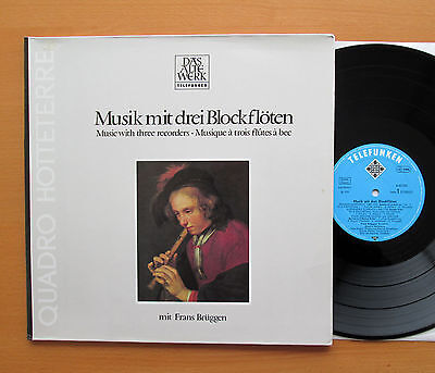 Music With Three Recorders Frans Bruggen Telefunken 6.42365 AW Gatefold NM/EX
