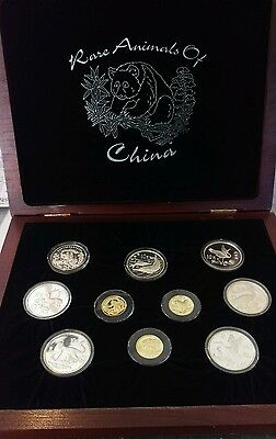 *super Rare* 10 Coin Set Proof Silver & Gold Animals Of China Only 250 Sets Made