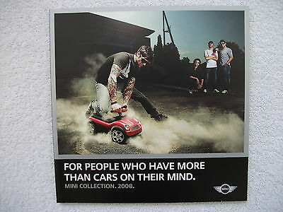 Mini Accessories collection brochure 2008 -Luggage,clothing,caps,model cars,bags