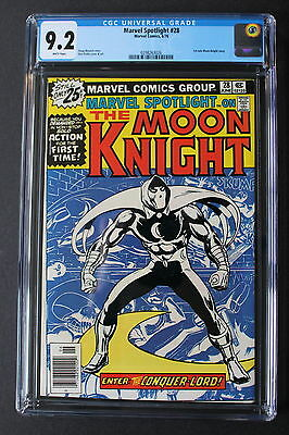 Marvel Spotlight #28 First SOLO MOON KNIGHT Series 1976 Netflix TV? CGC NM- 9.2