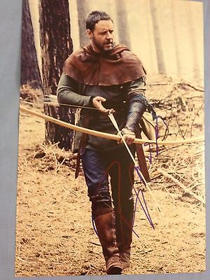"""Russell Crowe original autograph (In Person) Gladiator, Robin Hood 12""""x 8"""""""