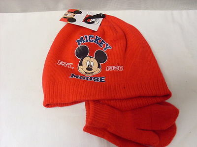 Mickey Mouse Hat With Mittens   New