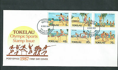 Tokeleau Islands 1987 Olympic Sports Fdc