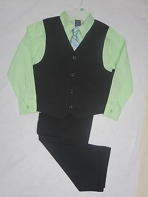 NWT Arrow Boys 4 Piece Dress Holiday Outfit - Shirt, Vest, Tie, Pants, 7