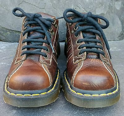 Vintage Brown Peanut Grizzly 1990s Grunge Man's Woman's Dr Martens shoes Size 7