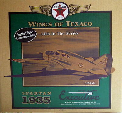 2006 Wings of Texaco #14 SPECIAL RED CHROME ED 1935 Spartan Executive Airplane