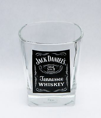 Vintage Jack Daniels Old No 7 Tennessee Whiskey Square Based Glass Tumbler 2008