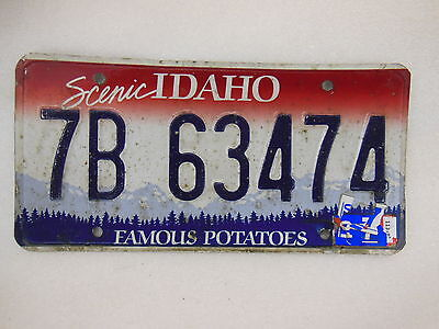 IDAHO License Plate - 7B 63474 - FAMOUS POTATOES Scenic State BONNER Sandpoint