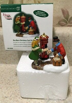Dept. 56 Dickens Village One More Christmas Card to Post, Please #58596 Rare