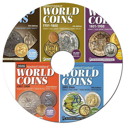 Coins total catalogs on DVD - NEW 2016. edition (Krause)