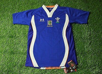 WALES NATIONAL team RUGBY SHIRT JERSEY MAGLIA UNDER ARMOUR ORIGINAL BNWT SIZE LG
