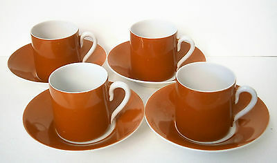 4 Epiag coffee cans, espresso cup and saucer set