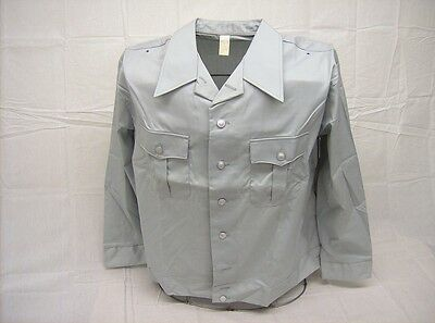 East German NVA military surplus light blue dress uniform fitted shirt new Med R
