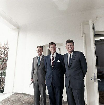 Kennedy Brothers outside the Oval Office at the White House.