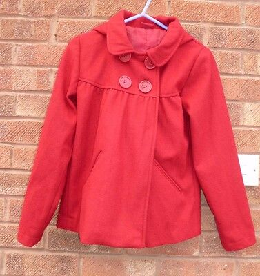 Cherokee Girls Red Hooded Winter Jacket Coat 11-12 Years Worn 2-3 Times Max