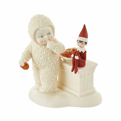 Dept. 56 Snowbabies - THE ELF ON THE SHELF GUARDS THE COOKIES - New 2016