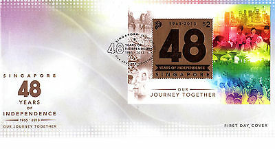 Singapur  FDC v.  05.08.2013 48 Years of Independence