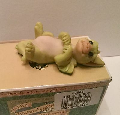 """The Whimsical World of POCKET DRAGONS """" RUB MY TUMMY """" by Real Musgrave"""