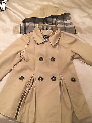 Girls Burberry Winter Coat Age 5