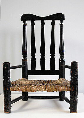 Armchair Bannister Back Antique child's Early American