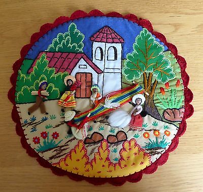 Spanish Embroidery Collage Christmas Gift Present