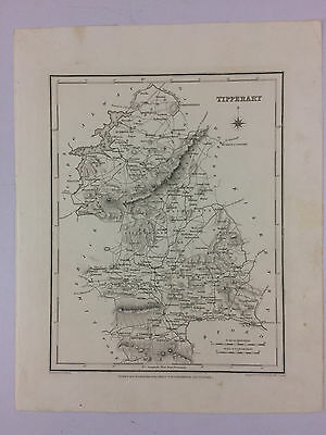 Tipperary by Samuel Lewis antique map Ireland Circa 1837 B16