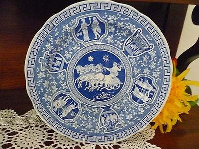 Large Collector Plate THE SPODE BLUE ROOM COLLECTION - GREEK SPODE ENGLAND