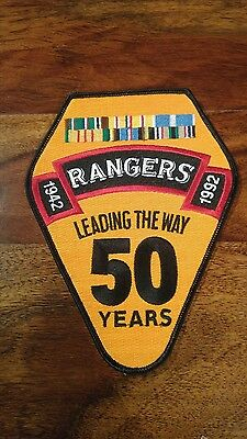 US Army Rangers 50th Anniversary patch. Large Militaria America