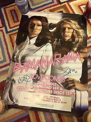Bananarama Love Comes & VIVA Double Sided Promo Poster - Signed (Rare)
