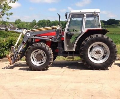 Compact tractor with loader