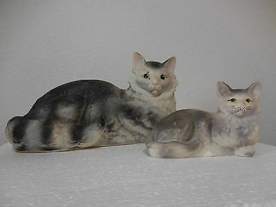 vintage hard rubber cat and kitten life size PRICE CUT!