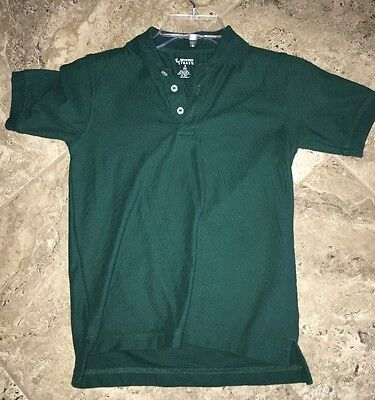 Boys/Girls French Toast Short Sleeve Winter Green Polo Uniform Shirt Size 7/8