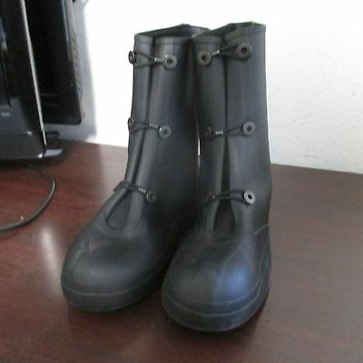 KCA Rubber Chem Overboots Military Black Wet Weather Protective Size 10