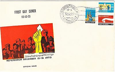 REDUCED Burma 1973 Referendum set on official FDC