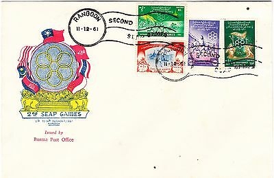 REDUCED Burma 1961 Second SEAP Games official FDC