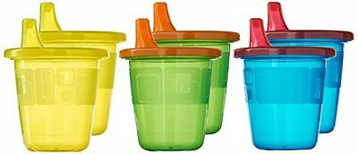 Spill Proof 6 Cups & Lids 7oz + Free Travel Cup Toddler Baby Kid The First Years