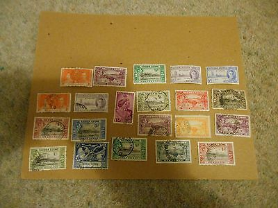 Stamps Sierra Leone Gv1 Mint And Used Lot.
