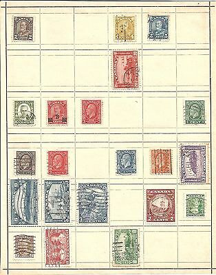 (R) Canada Classic Stamps Hinged On Page