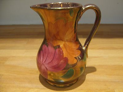Gold Lustre Jug By Oldcourt Pottery