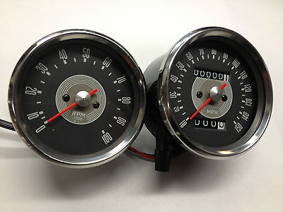 Triumph Speedo And Tach Grey Face 650 68-70  Smiths Replica