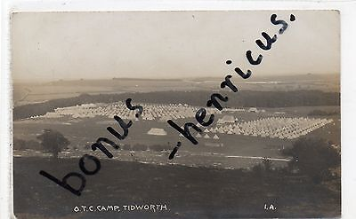 Tidworth Pennings Camp, Andover. O.T.C. Wiltshire. pu.1912. RP.