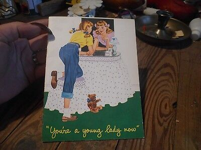 Vintage 1952 You're A Young Lady Now From Kotex