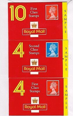 "GB.ELIZABETH II rarely seen ""sample"" barcode booklets"
